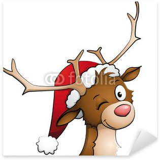 Rudolph the red nosed reindeer Sticker - Pixerstick