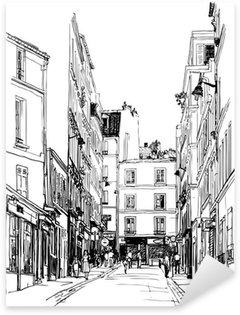 Sticker Pixerstick Rue près de Montmartre à Paris