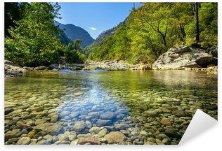 Sticker Pixerstick Ruisseau de montagne