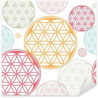 Sticker - Pixerstick sacred geometry flower of life seed pattern