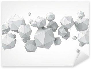 Pixerstick Sticker Samenstelling van icosaëder voor grafische vormgeving