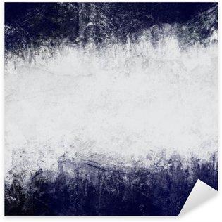 Pixerstick Sticker Samenvatting geschilderde achtergrond in donker blauw en wit met lege ruimte voor tekst