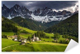 Sticker - Pixerstick Santa Maddalena Dolomites Group, Val di Funes, Italy, Europe.