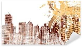 Sticker - Pixerstick saxophonist on a grunged background