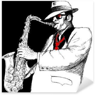 Sticker - Pixerstick saxophonist