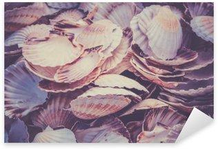 Sticker - Pixerstick Scallop shells heap