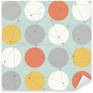 scandinavian geometric modern seamless pattern Sticker - Pixerstick