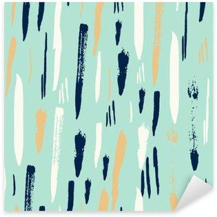 Sticker - Pixerstick Scandinavian seamless pattern with diagonal black strokes