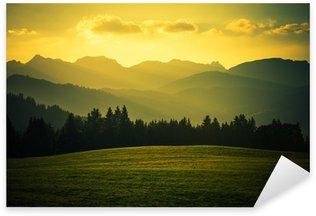 Scenic Mountain Landscape Sticker - Pixerstick
