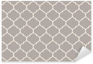 Sticker - Pixerstick Seamless anthracite gray wide moroccan pattern vector