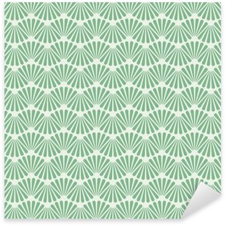 Sticker Pixerstick Seamless Art Deco Wallpaper Texture Fond