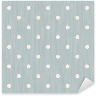 Sticker Pixerstick Seamless background avec des lignes et des points de polka