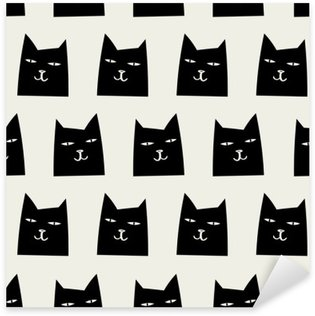 seamless cat pattern Sticker - Pixerstick