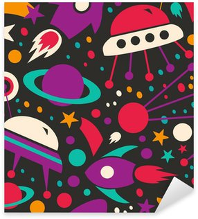 Sticker - Pixerstick Seamless contrast cosmic pattern