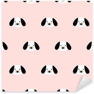 seamless cute dog pattern Pixerstick Sticker