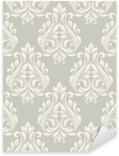 Sticker - Pixerstick Seamless damask pattern.