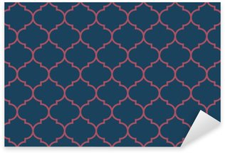 Sticker - Pixerstick Seamless dark blue and burgundy wide moroccan pattern vector