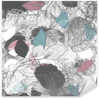 Sticker Pixerstick Seamless floral abstrait
