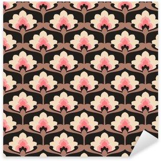 Sticker Pixerstick Seamless floral vintage.