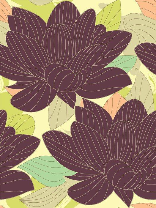 Sticker - Pixerstick Seamless flower background - Backgrounds