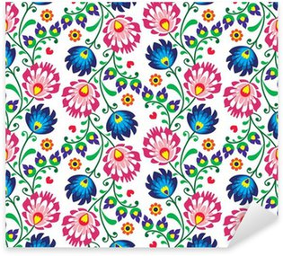 Sticker - Pixerstick Seamless folk Polish pattern - wzor lowicki