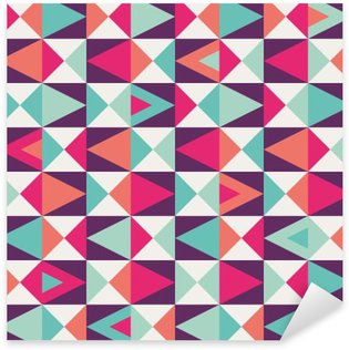 seamless geometric pattern Sticker - Pixerstick