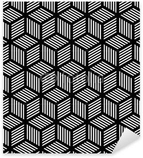 Sticker - Pixerstick Seamless geometric texture in op art design.