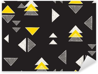 Seamless hand-drawn triangles pattern. Sticker - Pixerstick