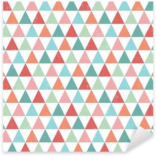 Sticker - Pixerstick seamless hipster geometric pattern bright pastel colors