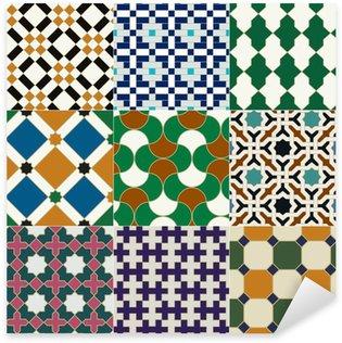 Sticker Pixerstick Seamless islamique motif géométrique