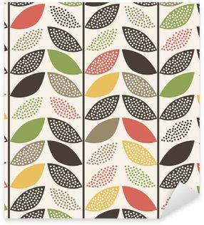 seamless leaf pattern background Sticker - Pixerstick