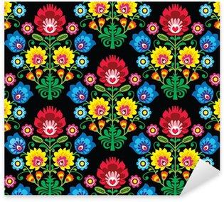 Sticker Pixerstick Seamless motif floral polonais d'art populaire - Lowickie Wzory