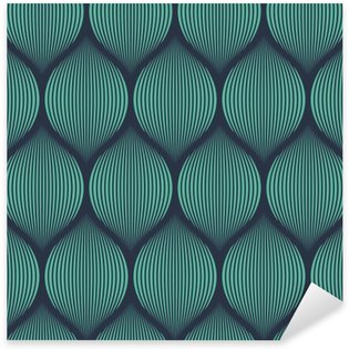 Sticker - Pixerstick Seamless neon blue optical illusion woven pattern vector