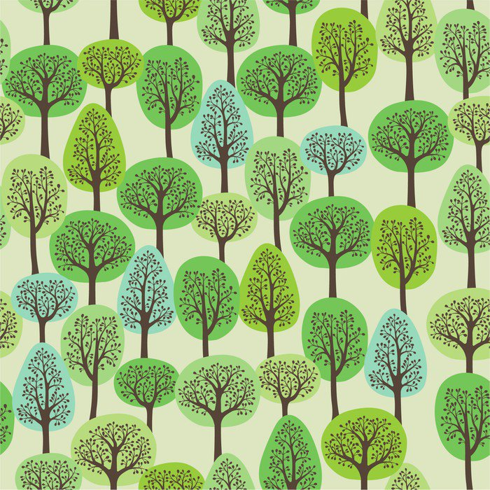 Sticker - Pixerstick seamless pattern with a green forest - Themes
