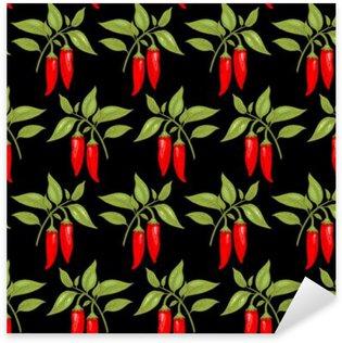 Seamless pattern with cayenne pepper Sticker - Pixerstick