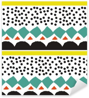 Seamless pattern with graphic geometric elements Sticker - Pixerstick
