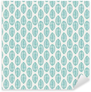 Sticker - Pixerstick seamless pattern with leaves