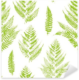 Sticker - Pixerstick Seamless pattern with paint prints of fern leaves