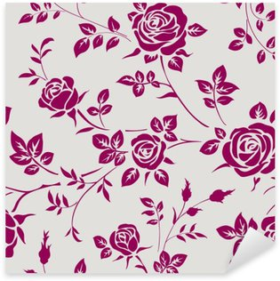 Sticker Pixerstick Seamless pattern with roses