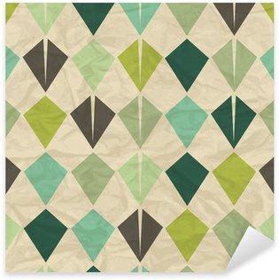 Seamless retro geometric pattern. Sticker - Pixerstick