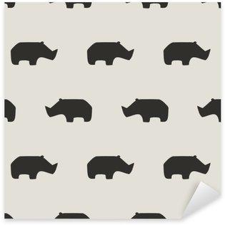Sticker - Pixerstick seamless rhino pattern