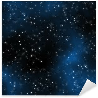 Pixerstick for All Surfaces Seamless Starfield with Glowing Stars at Night
