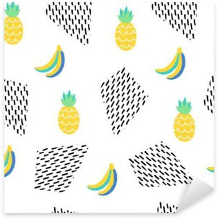 Seamless summer pattern Sticker - Pixerstick