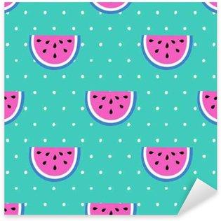 Seamless summer pattern Sticker - Pixerstick