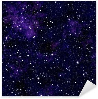 Sticker Pixerstick Seamless texture simulant le ciel nocturne
