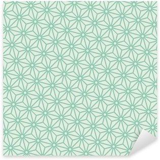 Sticker Pixerstick Seamless vecteur asanoha japanese turquoise diagonal