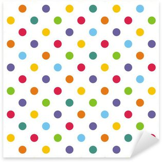Sticker - Pixerstick Seamless vector pattern or background with colorful polka dots