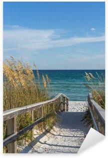Sticker Pixerstick Sentier de la plage dans le paradis