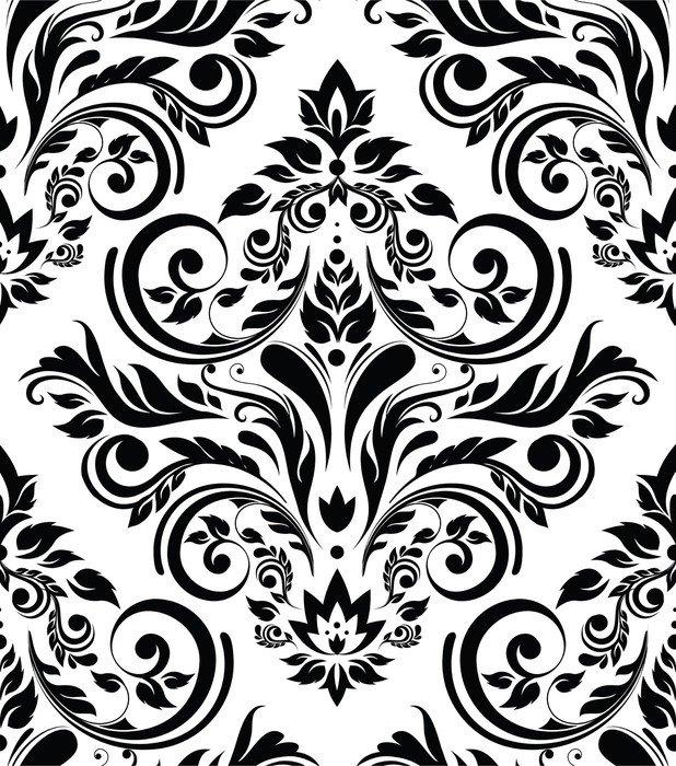 Sticker - Pixerstick Sepia floral background -
