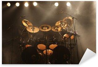 Set of drums on stage Sticker - Pixerstick